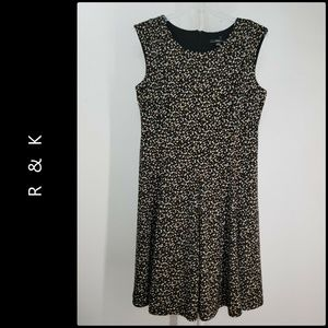 R & k Woman Career Formal Fit & Flare Dress NWOT